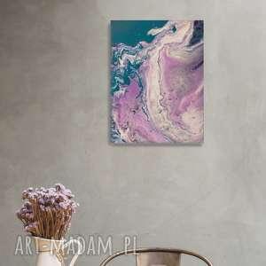 ABSTRAKCYJNY OBRAZ PURPLE BAY, obraz, abstrakcja, akryle, abstrakcyjnyobraz, malowany