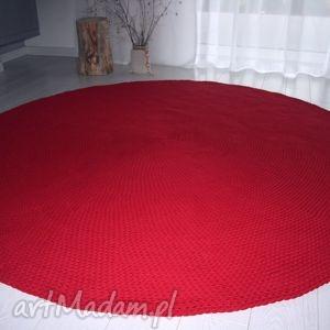 dywan bawełniany 200 cm, dywan, scandi, czerwony