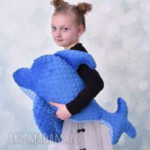 przytulanka dziecięca delfin - delfin-poduszka, delfin-hand-made, dekoracja-pokoju