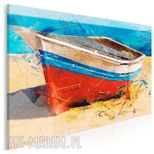 obraz na płótnie - łódź morze pejzaż krajobraz 120x80 cm 92001, łódź