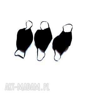 3 szt maseczki czarne bawełniane, maski, maski
