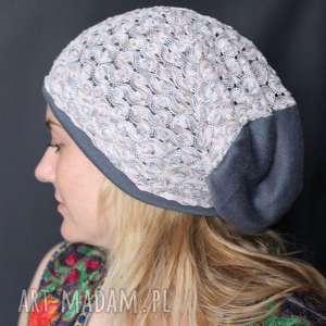 czapka ażurowa koronkowa codzienna handmade, czapka, etno, koronkowa, folk