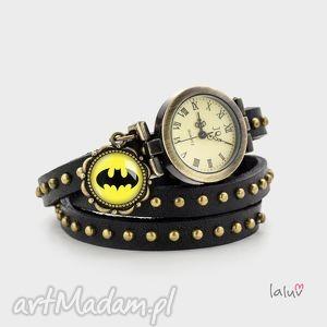 handmade skórzany zegarek-bransoletka batman
