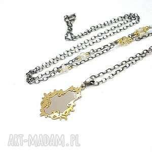 Zwierciadełko - naszyjnk naszyjniki katia i krokodyl srebro