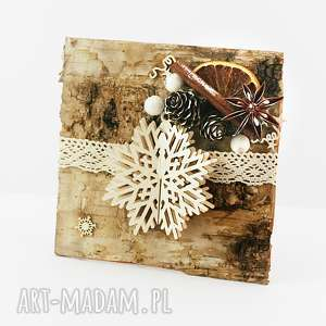 pomysł na upominki Drewniana KARTKA BOŻONARODZENIOWA, święta, kartka, życzenia