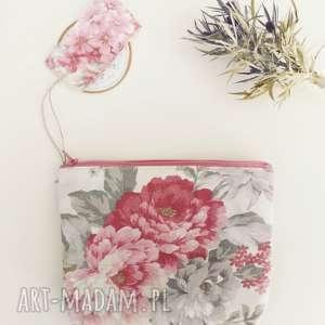 hand-made kosmetyczki kosmetyczka saszetka organizer vintage kwiaty