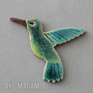 Pomysł na prezent pod choinkę? Koliber-broszka ceramiczna broszki