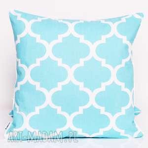 Poduszka fresh turquoise 40x40cm od majunto poduszki poduszka