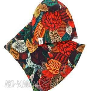 handmade zestaw czapka & komin forest
