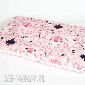 płaska poduszka minky - tygrys 40x60 cm, poduszka, poszewka, minky