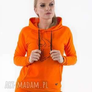 bluzy bluza orange z nadrukiem 3for, spodnie, spódnice, t shirt, sukienki
