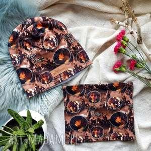 zestaw jesienno zimowy czapka komin harry potter (jesień, prezent)