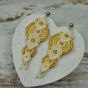 eleganckie kolczyki z koralików