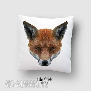 ręcznie wykonane poduszki poszewka z lisem