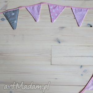 pokoik dziecka proporczyki różowe długość 4 m, ozdoba, proporczyk, różowy