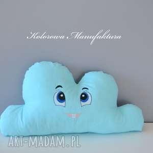 hand-made poduszki poduszka chmurka kacperek - haftowana