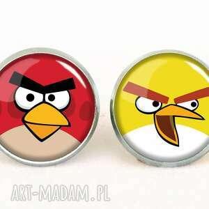 angry birds - kolczyki sztyfty, prezent