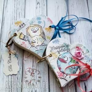 Notes /Szkicownik/ Marzenia się spełniają, serce, notes, ptaszek, kleks, kolorowy