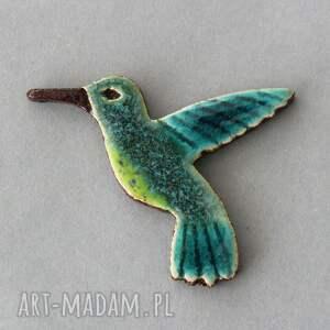 handmade broszki koliber - broszka ceramiczna