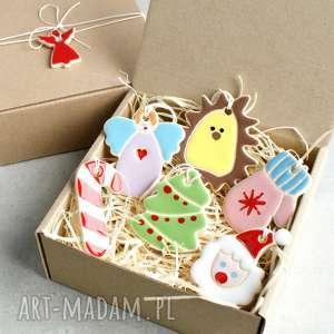 pomysł na prezent pod choinkę Zestaw zawieszek choinkowych, świąteczne, ozdoby
