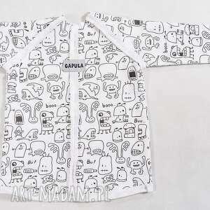 Bluzeczka w duszki z przeszyciami , bawełna, duszki, bluzka, wygoda, biała