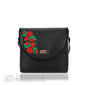 TOREBKA PURO 1404 BLACK ROSES 2, torebka, torebkadamska, klapkomania, puro, naszywki