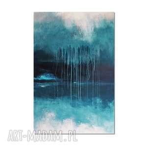 tempesta, abstrakcja, nowoczesny obraz ręcznie malowany, obraz