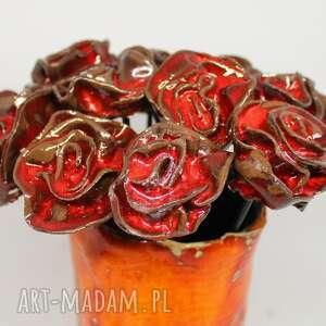 ceramika prezent dzień kobiet kwiaty ceramiczne róże na sztuki, walentynki