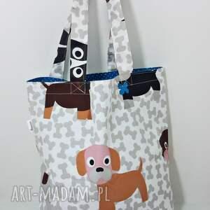 Torba na zakupy ekologiczna Shopperka psy, torba, torba-na-zakupy, shopperka, pieski