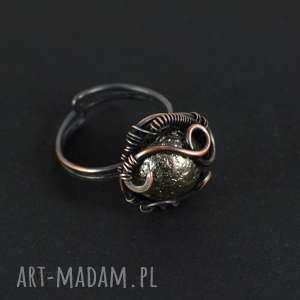 Prezent Moon- pierścionek ze szkłem, pierścionek-z-miedzi, pierścionek-prezent