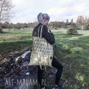 handmade na ramię pojemna torebka z wzorem