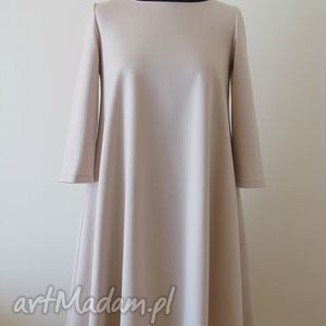 6eafca8334 ciekawe sukienki - 46 sukienka sznurowany dekolt c szara rękaw