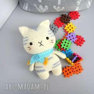 kot szalikot - przytulanka zabawka, prezent, oryginalny kotek