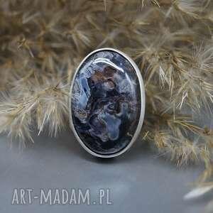 zjawiskowy pietersite pierścionek cirion, minerał