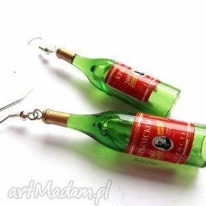 kolczyki wino wytrawne, kolczyki, wino, wina, butelka, butelki
