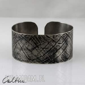 .Fale - metalowa bransoletka, bransoleta, szeroka, metalowa, alpaka