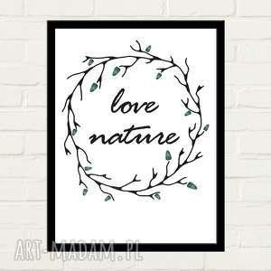 LOVE NATURE Plakat 30x40, minimalizm