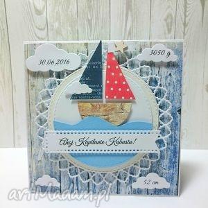Ahoj Na Świecie Mały Marynarzu!, zaproszenie, narodziny, marynarski, kartka, łódka