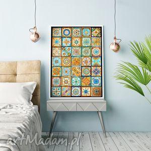 mozaika, plakat, grafika dom