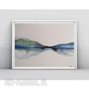 pejzaż -akwarela formatu 18/24 cm, pejzaż, papier, akwarela, abstrakcja
