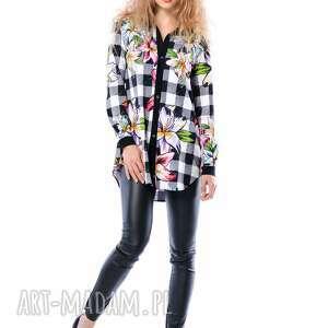 Linda Hypnotic - koszula w kratę i kwiaty, koszula, krata, kwiaty