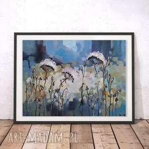 ABSTRAKCYJNA ŁĄKA V- obraz akrylowy formatu 20/30cm, łąka, obraz, abstrakcja