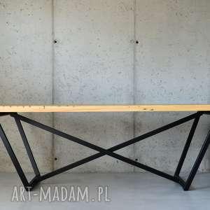 stół san-ki 200 łódka czerń, loft, nowoczesny, stół, design, industrial, stal
