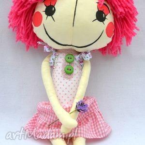 anolinka - ręcznie wykonana lalka z duszą - różowe lalki