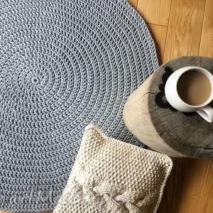 Okrągły dywan o średnicy 100 cm motkovo dywan, carpet, homedecor