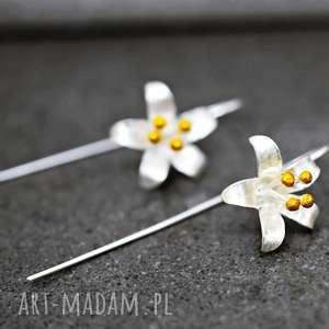 925 Srebrne kolczyki DZWONECZKI , kwiaty, dzwoneczki, srebro, 925, natura, kwiat