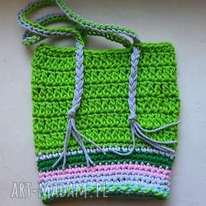 letnia torebka ze sznurka boho style, torba, szydełko, sznurek,