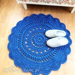 Dywan wykonany ręcznie na szydełku 85 cm wools dywan, dywanik