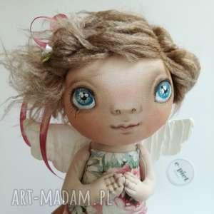 hand made dekoracje e-piet aniołek - dekoracja ścienna figurka tekstylna ręcznie szyta