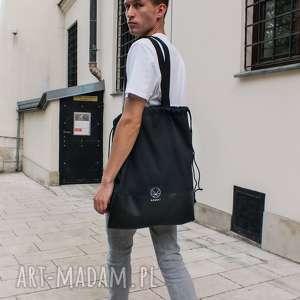 torba worek czarny, męski, męska, czarna torba, plecak